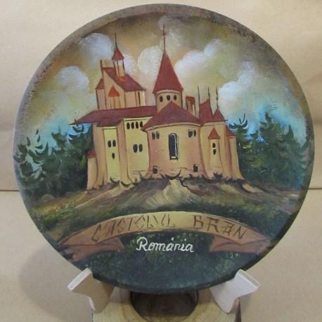 Farfurie pictata cu castelul Bran