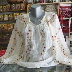 Ie traditionala romaneasca model cu bumbi